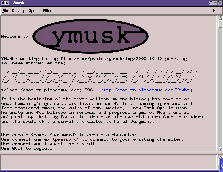 ymusk v0.6 (tempest) on Linux + Afterstep